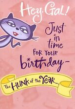 Funny Happy Birthday For Her Gal Hunk Of The Year 1942 Hallmark Greeting Card