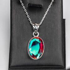 Mercury Mystic Topaz Gemstone Sterling Silver 925 Ladies Pendant Necklace