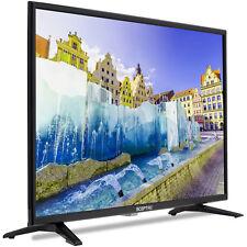 "32"" Table Top Flat Screen Class HD HDMI LED TV Black Home Dorm New Free Shipping"