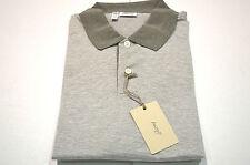 NEW  BRIONI Gray Polo  Short Sleeve 100% Cotton Size M Us Eu 50 (Code spmil A)