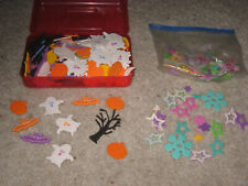 Halloween & Other Shape Foam Diecut Adhesive Stickers Large Lot Nice Condition