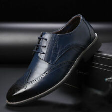 Hot Men's Shoes Formal Leather Oxfords Dress Business Lace up Wedding Shoes Lot