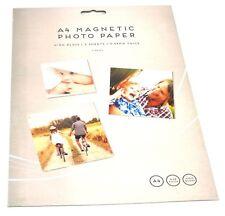 2x A4 FINITURA LUCIDA MAGNETICA carta fotografica a getto d'inchiostro di stampa crea frigo Segno