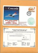 CONCORDE SST BRITISH AIRWAYS FIRST FLIGHT LONDON-LUTON OCT 1983   FLOWN ON