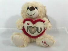 Jimmy musical teddy bear with red Hat and i love you Ideal for mother/'s day