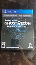 New Sealed Tom Clancy's Ghost Recon Breakpoint PS4 Ultimate Steelbook Edition
