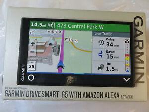 GARMIN DRIVE SMART 65 WITH AMAZON ALEXA & TRAFFIC 010-02153-00 BRAND NEW