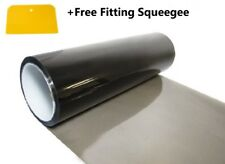 30 x 100cm Medium Smoke Headlight Tinting Film Fog Vinyl Lights + FREE SQUEEGEE