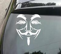 LARGE ANONYMOUS MASK  Car/Van/Truck/Bumper/Window/Laptop Vinyl Sticker/Decal