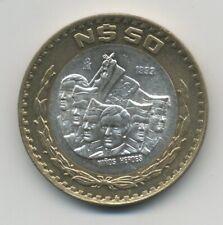 Mexico  1993 50 Pesos Niños Heroes KM 571 XF litlle choc in edge silver