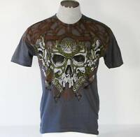Xtreme Couture Tattoo Skull Graphics Short Sleeve T Tee Shirt Mens Small S NEW
