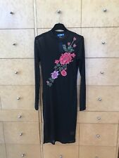 NEW Valleygirl Long Sleeve Dress - Size Small - Black/Floral