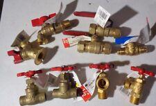 9-Brass Valves New Different Sizes