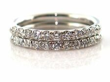 0.81 Ct Natural Round Cut Diamond 2 Matching Wedding Bands VS2/F 14K White Gold