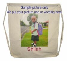 Bags Customized / Personalized Cotton Drawstring with your full colour image.