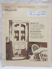 WOODSMITH Feb. 1989 Protective Cover No. 61 Projects Cherry Shaker Hall Table