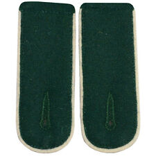 Infantry EM Shoulder Boards Bottle Green - White Piped - WW2 Repro Epaulettes