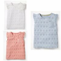 Girls Pretty Broderie T-Shirt Top Age 2-16 Years NEW Ex Boden RRP £22