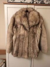 Vintage Arctic Silver Fox Fur Coat Jacket - Size 10 M Medium