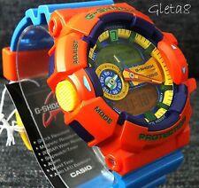G Shock Original Watch Blue Orange Authentic Analog Digital Gshock Wristwatch