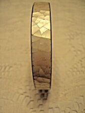 "Fashion  Bangle Bracelet  Mother of Pearl Inlay  white/ silver 1/2"" wide"