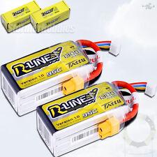 (2) Tattu R-Line 4S 1300mAh 14.8v 95C 4S1P Lipo Battery w/XT60 Plug Racing Drone