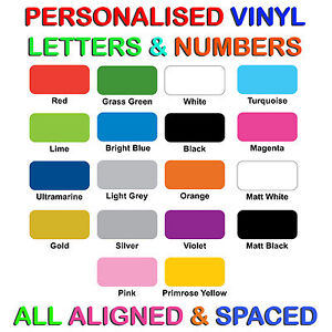 Custom Self adhesive Vinyl Lettering Letters for pre-spaced Words & Signs