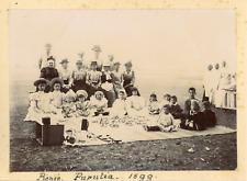Inde, Purulia, Un pique-nique, 1899, Vintage citrate print Vintage citrate print