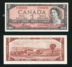 Canada 🇨🇦 1954 - $2 Modified Portrait Bouey Rasminsky - UNC Note