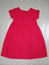 GHOST Girls Bright Watermelon Red Dress - size M (6-7 years)