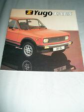 Yugo range brochure Mar 1983