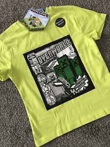 Boys MINECRAFT Creeper T shirt 9-10 years Official Licensed Primark