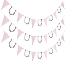 7 FT COWGIRL GARLAND western pink bandana horseshoe BIRTHDAY PARTY DECORATIONS