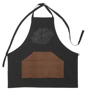 Harley-Davidson Bar & Shield Logo Grilling Apron with Leatherette Front Pocket