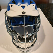 Cascade CPX Lacrosse Helmet Blue/ White w Chrome Facemask One-Size