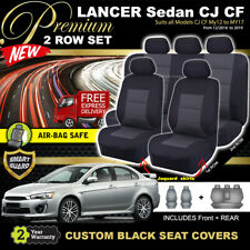 Premium BLACK Seat Covers Mitsubishi Lancer CJ CF Sedan 2Row ES LS VRX10/2011-18