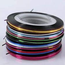 30x Rolls Stripe Decals Foil Tips Tape Line DIY Nail Art Tips Decor Stickers Hot