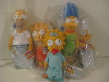 Applause Simpsons Family 5x Lot Homer Marge Bart Lisa Maggie Plush 20 18 12 inch