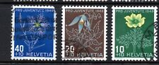Switzerland (2294) 1949 Pro Juventute Charity Stamps  Used Sg J1229-31 Cat £15