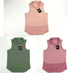 Puma Mesh Sleeveless Golf Polo Shirt Pink Thyme Womens SZ Small ( 597694 )