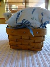 LONGABERGER-SWEET BASIL BOOKING BASKET WITH LINER & PROTECTOR -1993