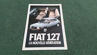 1982 FIAT 127 SPECIAL / SUPER inc 5 DOOR / SPORT - FRENCH FOLDER BROCHURE