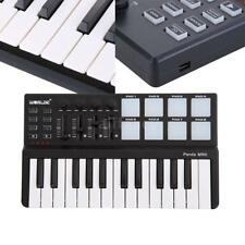 Black Worlde Panda Portable 25-Key USB Keyboard Drum Pad MIDI Controller I4R8