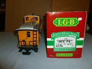 LGB 4175 D&RGW DROVER'S CABOOSE Denver Rio Grande Baggage Coach Queen Mary w/lts