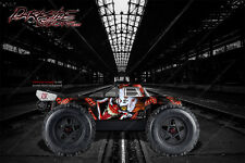 """ARRMA OUTCAST GRAPHICS WRAP DECALS """"STIFF UPPER LIP"""" RED FITS OEM BODY PARTS"""