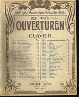 """Ouvertüre aus """" Kalif von Bagdad """"  von Boieldieu , übergroße, alte Noten"""