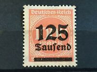 125.000M on 1.000M stamp with black overprint - Weimar Republic 1923