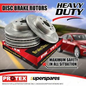 Protex Front + Rear Disc Brake Rotors for Nissan Pintara U12 FWD 11/89 - 10/92