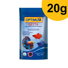OPTIMUM 20g Highly Nutritious Food For All Betta Fish and Other Small Fish