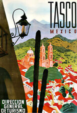Art Ad  TASCO Mexico  Travel  Deco  Poster Print